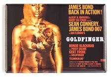 Goldfinger FRIDGE MAGNET (2.5 x 3.5 inches) quad movie poster james bond