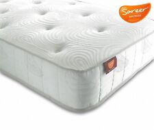 SAREER LATEX POCKET SPRUNG MEMORY FOAM MATRAH MATTRESS 3FT SINGLE MADE IN UK
