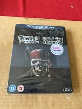 Pirates of the Caribbean On Stranger Tides UK Blu Ray Steelbook NEW & SEALED