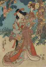 A4 Photo Toyokuni Utagawa 1769 1825 Yamauba to kaidomaru 2 c1850 Print Poster