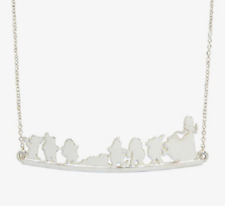 """DISNEY SNOW WHITE THE SEVEN DWARFS HEIGH HO IT'S OFF TO WORK WE GO NECKLACE 20"""""""
