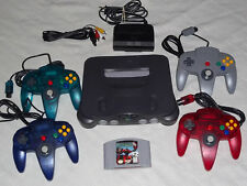 Nintendo 64 N64 Console System Complete + 4 CONTROLLERS + STARFOX Game