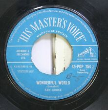 """50'S & 60'S 45 Sam Cooke - Wonderful World / Along The Navajo Trail On """"His Mast"""