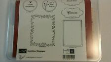 Stampin Up Matchbox Messages 6 Piece Stamp Set Frames Sayings Rubber unmounted