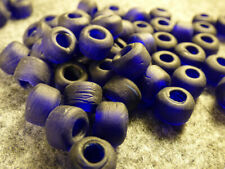 (10) Crow Indian Cobalt Blue Padre Glass Trade Beads 150+ Years Old