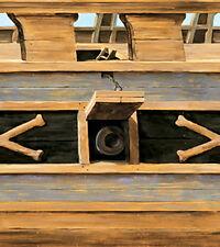 Tapete Piraten Bordüre Borte Schiffsrumpf L: 4,57 m / H: 68,6 cm vorgeleimt