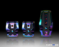 NRG NEOCHROME ALUMINUM SPORT PEDAL W/BLACK RUBBER INSERTS FOR MANUAL TRANS