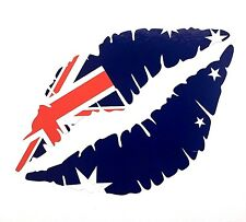 Bandera australiana Labios 12.5cm Pegatina de Coche Iphone Ipad Pared Arte Australia V8 mg Aus