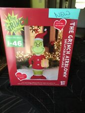 NIB Gemmy Airblown Inflatable Christmas Dr Seuss Grinch 5.5 FT Tall