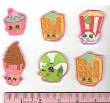 SHOPKINS fabric iron-on appliques NO SEW grocery pals Waffle Sue Ice-Cream Cone