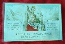 Cartolina Banca d'Italia Prestito Nazionale consolidato 5% (non viaggiata)  4/17