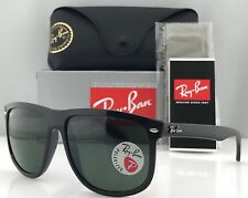 a531e86201e Ray-Ban RB4147 Sunglasses Black Frame Green Polarized Lenses 601 58 60mm  Large