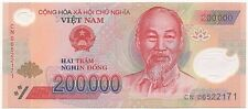 200k (200000) Vietnam Money Dong Circulated Polymer Bank Notes Vietnamese