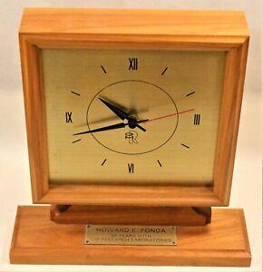 Vintage DETROIT GM Research Lab General Motors Clock Employee Gift Works Custom