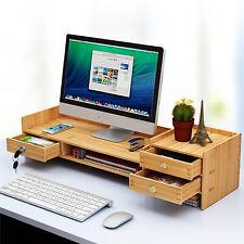 Office Wood Desk Organizers With Lock File Storage Computer Desktop Tray New Diy
