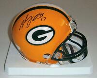 PACKERS Davante Adams signed mini helmet w/ #17 JSA COA AUTO Autographed