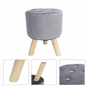 Round Stool Upholstered Dressing Side Table Foot For Living Room Bedroom AU