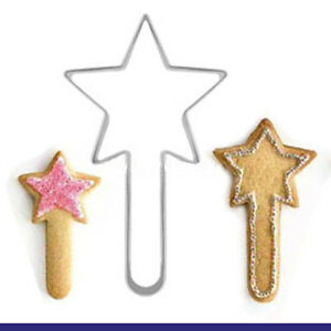 2 Pcs Packed Magic Wand Stainless Steel Cookie Dessert Cake Cutter DIY Mould