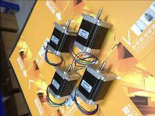 4 pcs Nema 23 stepper motor 270 oz.in=1.9NM single shaft 3A CNC