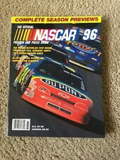 THE OFFICIAL NASCAR PREVIEW AND PRESS GUIDE - 1996 - excellent condition