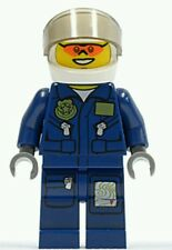 LEGO City Forest Police Helicopter Pilot Officer Minifigure Cop Dark blue