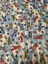 Camo Planes Flame Resistant Material 100% Polyester Fabric Vintage New 1.4 Yard