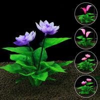 Lotus Water Grass Plastic Water Plant for Aquarium Fish Tank Ornament Decoration