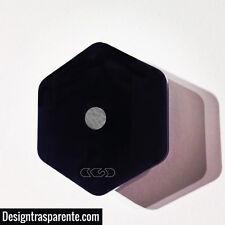 Ganci appendiabiti in plexiglass da parete nero lucido - Designtrasparente
