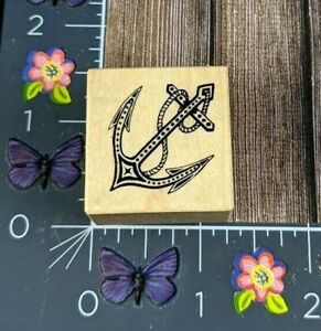 PSX Designs Anchor Rubber Stamp 1993 B1095 Wood #D153