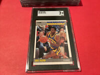 1987-88 Fleer #39 Eric Sleepy Floyd SGC 7 NM Warriors Graded Basketball Card