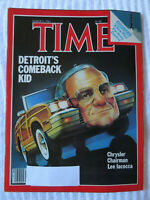 TIME MAGAZINE MARCH 1983 DETROIT'S COMEBACK CHRYSLERS LEE IACOCCA