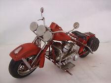 PLATO De Estaño Modelo de un rojo American Motorcycle/Ornament/Regalo