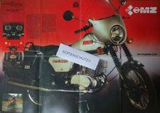 grosses Poster VEB Prospekt DDR IFA MZ Motorrad ETZ 125 150 250 Oldtimer KRAD