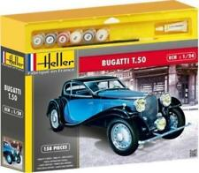 Heller 50706G 1:24th Escala Kit Conjunto de Regalo T.50 Bugatti Pinturas Pegamento & Cepillo