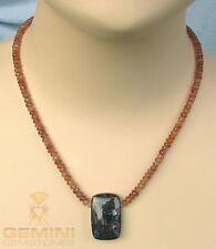 Sonnenstein-Kette Sonnstein mit Kyanit Halskette Damen - Gemini Gemstones