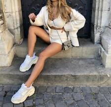 Zara Ecru Knit Cardigan With Pockets. Size M 10