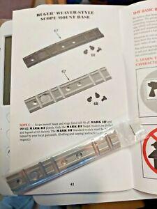 Weaver Scope Base Adapter Mark ll, Mark lll  Ruger 22/45