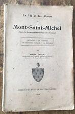 EO 1912 M.IMBERT : LA VIE ET LES MOEURS AU MONT-SAINT-MICHEL
