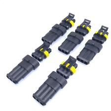 US Stock 5 Sets 3 Pin Way Sealed Waterproof Electrical Wire Connector Plug Kit