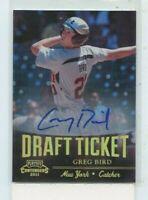 GREG BIRD 2011 Playoff Contenders Draft Ticket Rookie Auto Autograph DT83
