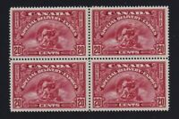 Canada Sc #E6 (1935) 20c dark carmine Special Delivery Block of 4 Mint VF NH