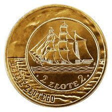 POLAND 2 ZLOTE 2005 Y# 521 SAILING SHIP FROM HISTORICAL COIN 2 ZLOTE 1936 UNC