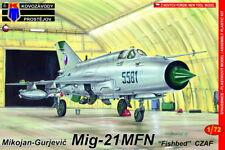 Kovozavody Prostejov 1/72 Model Kit 7287 Mikoyan MiG-21MFN Fishbed