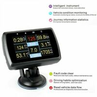 HUD Display OBD2 Speedometer Fuel Consumption Water Temperature Vehicle Diagnos
