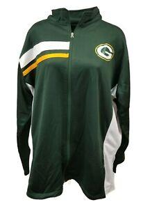 Green Bay Packers Women's NFL Majestic Full Zip Track Jacket Plus Size