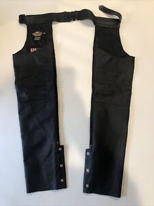 """Harley Davidson Women's """"Willie G"""" Chaps Braided Leather Size Extra Small / XS"""