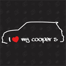 Amo mio BMW Mini Cooper S Ventilatore Adesivo R56 fuori anno fab. 06,Auto Tuning