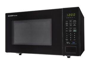 Genuine Sharp (SMC1441CB) 1.4 CU. FT. 1000W Black Countertop Microwave