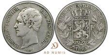 5 francs 1849 Léopold Premier tête nue Belgique - Argent