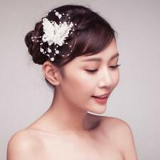Handmade Butterfly Rhinestone Beads Hair Clip Pin Wedding Party Accessories